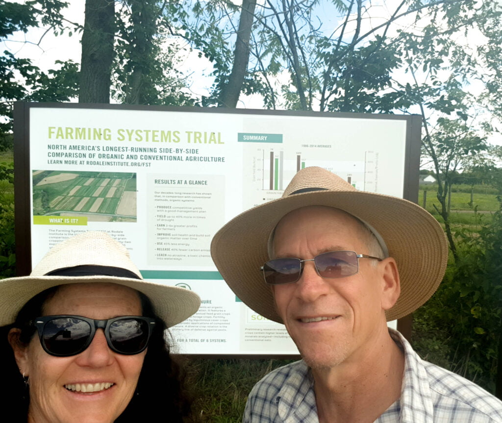 Katie and Hugh at Rodale Organic Farming Institute, USA, 2019