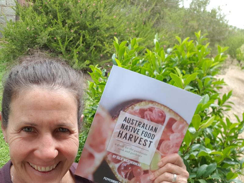 Katie with her precious copy of Australian Native Food Harvest