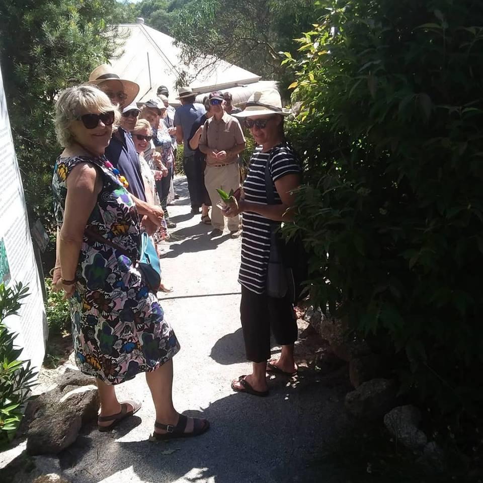 On tour of the bush food garden at Peppermint Ridge Farm