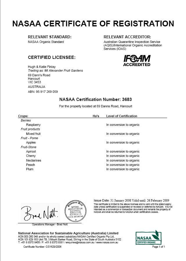 NASAA cert 2008