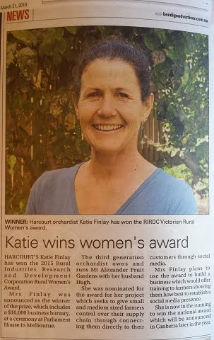 katie rwa bendigo advertiser
