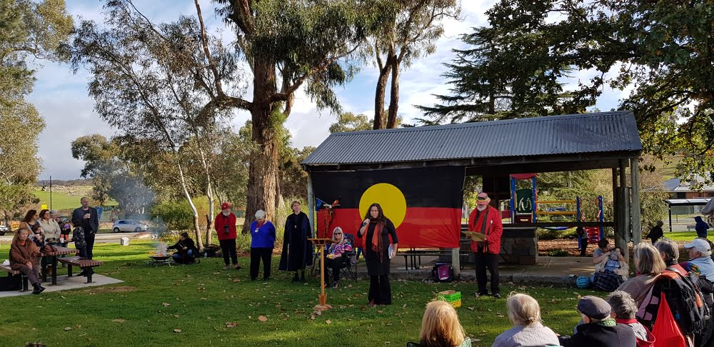 Aunty Kath Coff speaking at Sorry Day