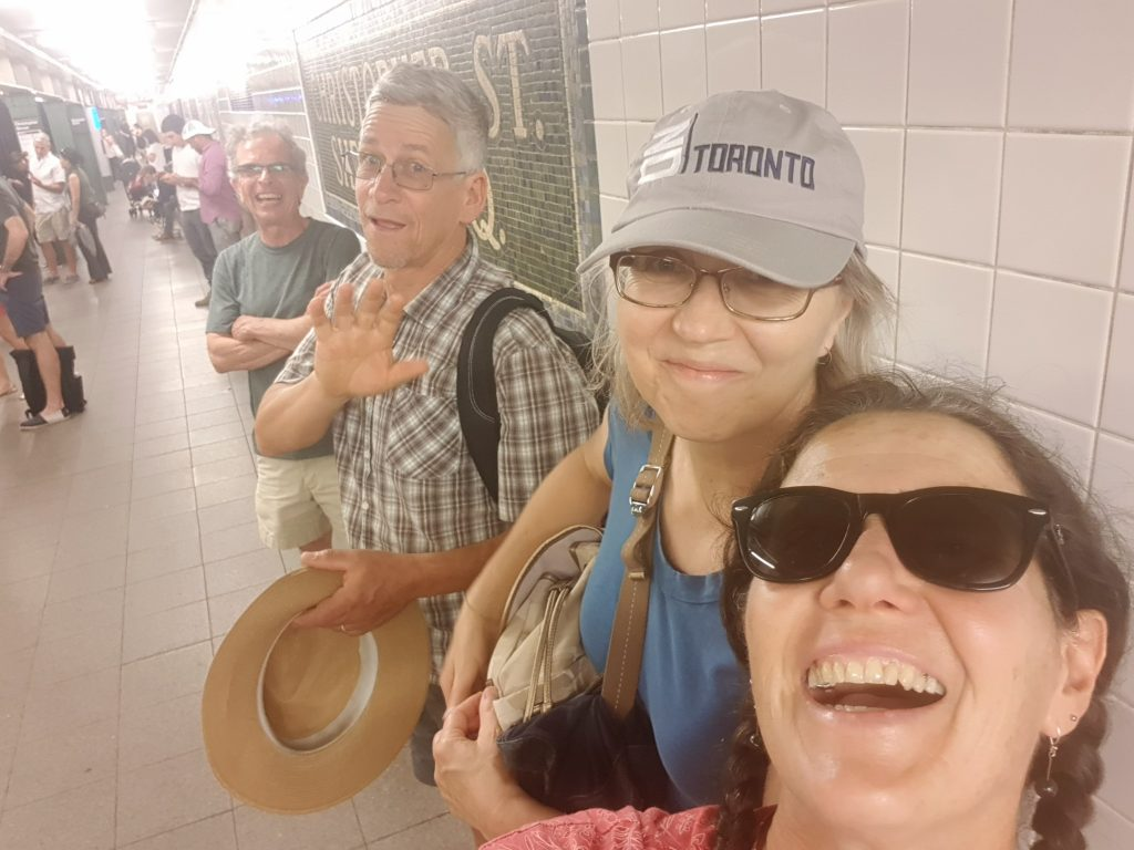Anne and Ralph showing us how to get around on the New York subway