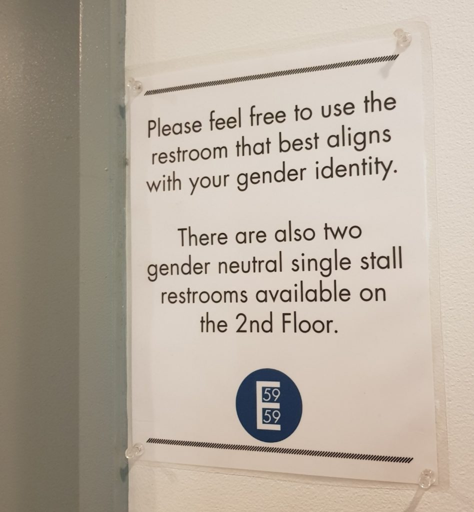 Gender neutral toilets in New York