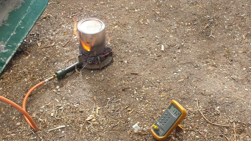 Making biochar in a milo tin