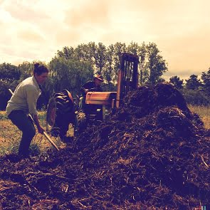 Making compost - a great input in a certified organic system
