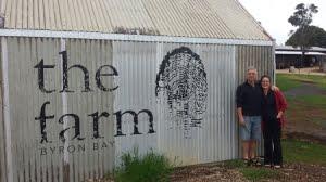 katie and hugh at the farm byron bay