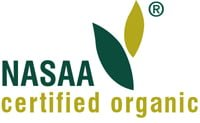 certifiied organic NASAA logo