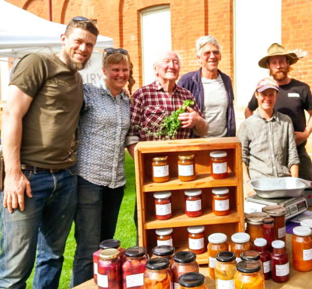 Jams and preserves for sale at the local weekly farmers market