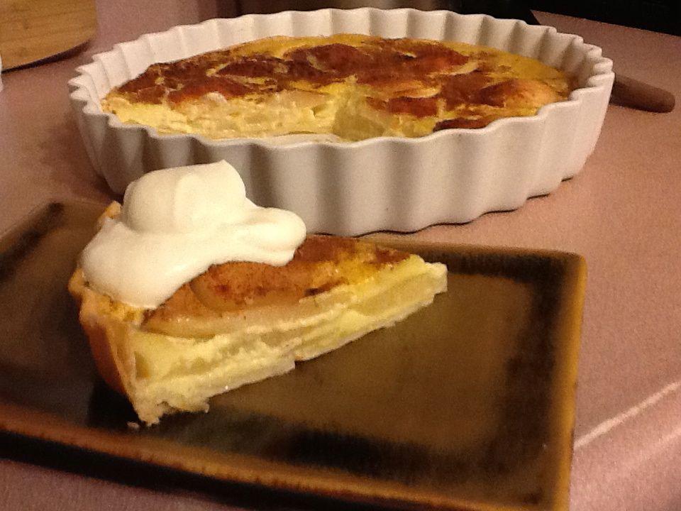 Pear and custard tart - a perfect winter dessert