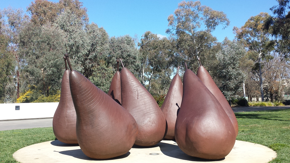 Pear sculpture at the National Gallery in Canberra