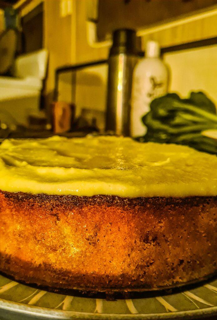Cream, ice-cream or yoghurt make the perfect accompaniment to this moist cake